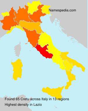 Surname Cretu in Italy