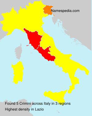 Surname Crimini in Italy