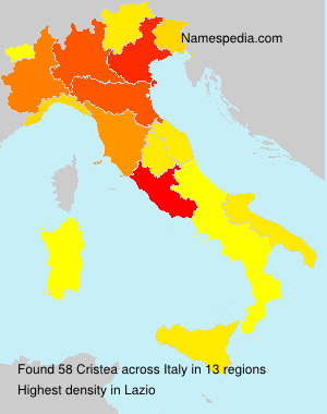 Surname Cristea in Italy