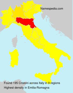 Surname Cristoni in Italy