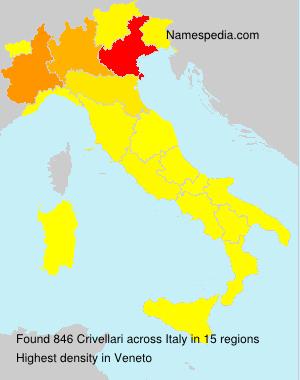 Familiennamen Crivellari - Italy