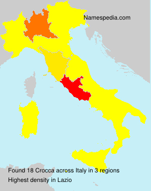 Surname Crocca in Italy