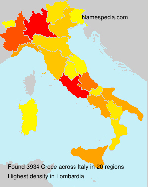 Surname Croce in Italy