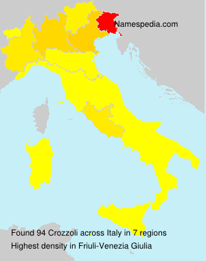 Surname Crozzoli in Italy