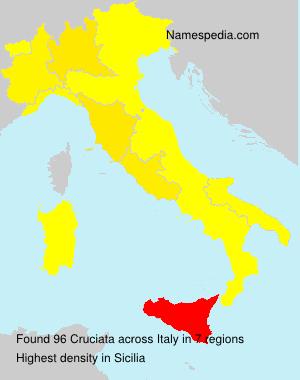 Familiennamen Cruciata - Italy