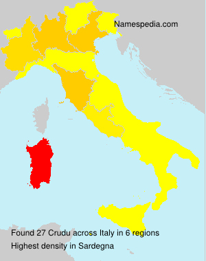 Surname Crudu in Italy