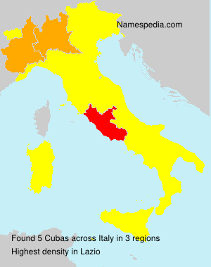 Surname Cubas in Italy