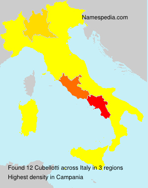 Surname Cubellotti in Italy