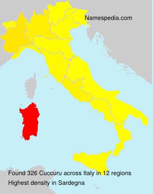Surname Cuccuru in Italy