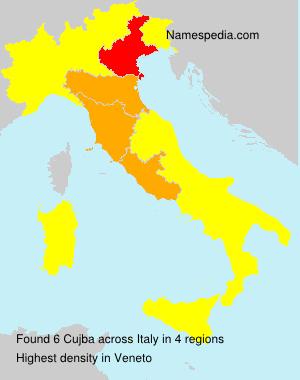 Surname Cujba in Italy