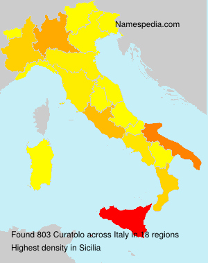 Familiennamen Curatolo - Italy