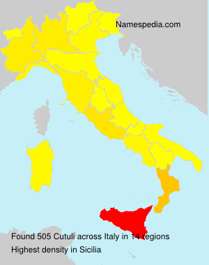 Surname Cutuli in Italy