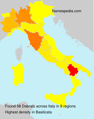 Surname Dabraio in Italy