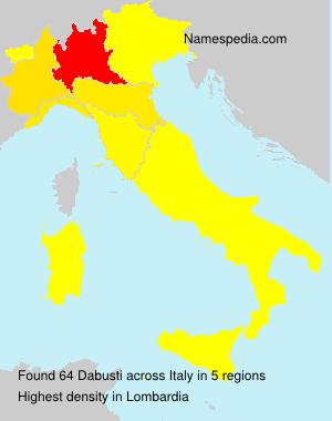Surname Dabusti in Italy