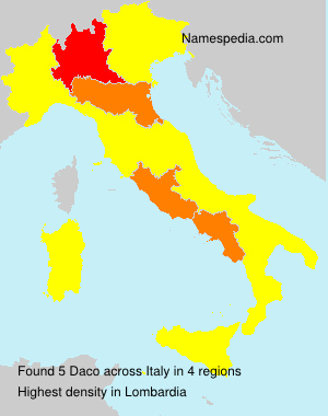 Surname Daco in Italy