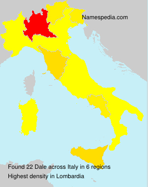Surname Dale in Italy