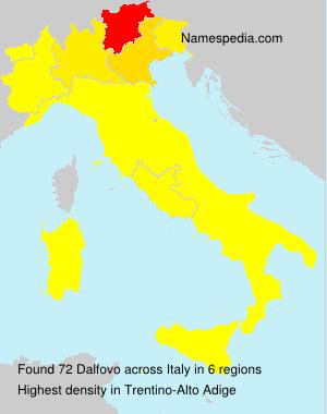 Surname Dalfovo in Italy