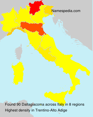Surname Dallagiacoma in Italy