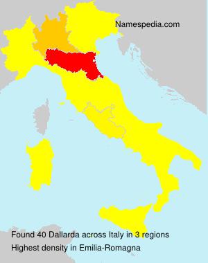 Familiennamen Dallarda - Italy