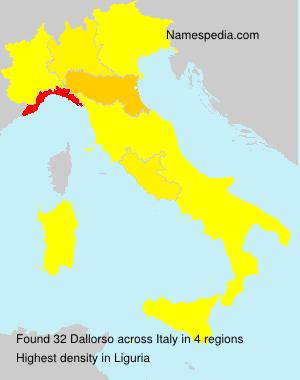 Surname Dallorso in Italy