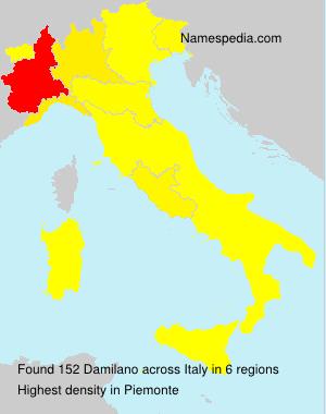 Familiennamen Damilano - Italy