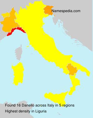 Surname Danello in Italy