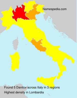 Surname Danilov in Italy