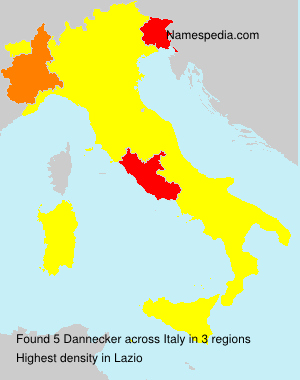 Surname Dannecker in Italy