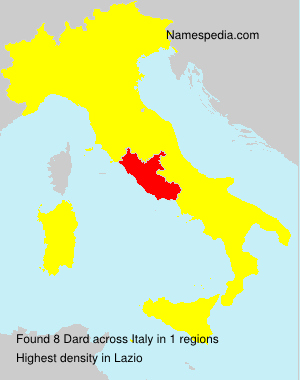 Surname Dard in Italy