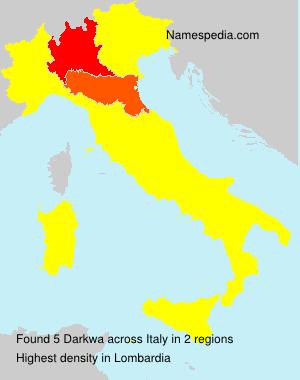Surname Darkwa in Italy