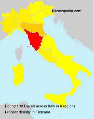 Surname Daveri in Italy