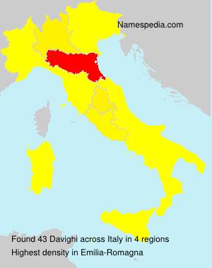 Surname Davighi in Italy