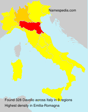 Familiennamen Davolio - Italy
