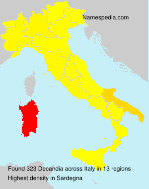 Surname Decandia in Italy