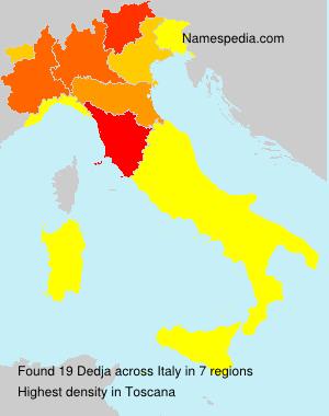Surname Dedja in Italy