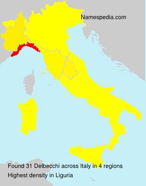 Surname Delbecchi in Italy
