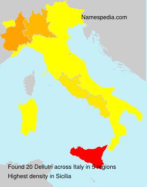 Surname Dellutri in Italy