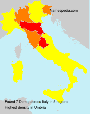 Surname Demaj in Italy