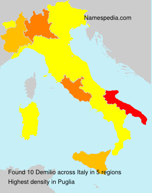 Surname Demilio in Italy