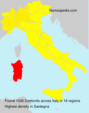 Surname Demontis in Italy