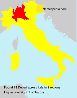 Surname Depari in Italy