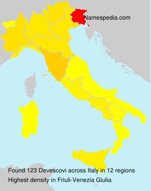 Surname Devescovi in Italy
