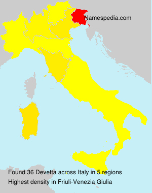 Surname Devetta in Italy