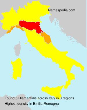 Surname Diamantidis in Italy