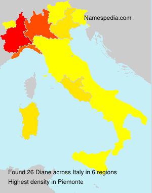 Familiennamen Diane - Italy