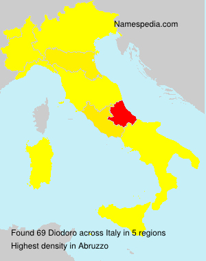 Surname Diodoro in Italy