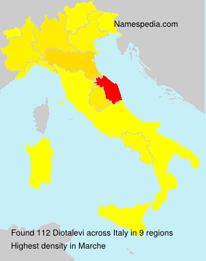 Surname Diotalevi in Italy