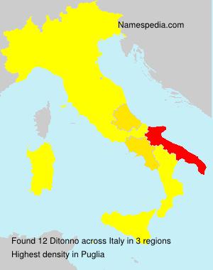 Familiennamen Ditonno - Italy