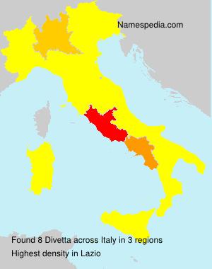 Familiennamen Divetta - Italy