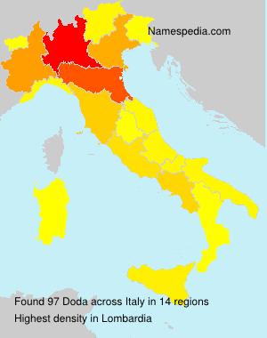 Surname Doda in Italy